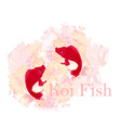 japanese koi background vector image vector image