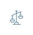 justice sign line icon concept justice sign flat vector image vector image
