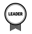leader stamp on white vector image vector image