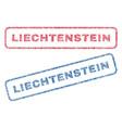 liechtenstein textile stamps vector image vector image