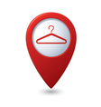 Map pointer with hanger icon vector image vector image