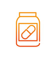 medicine bottle sport gym fitness gradient line vector image vector image
