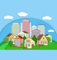 Modern city town cardboard landscape Paper color vector image vector image