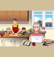 modern family at home vector image