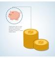 Money design commerce icon financial item vector image vector image
