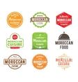 Moroccan cuisine label vector image vector image