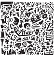 Music - doodles set vector image vector image