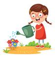 of kid farmer vector image