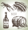 Oktoberfest set of beer Hand drawn vector image vector image