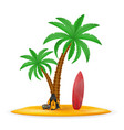 palm tree and accessories for rest stock vector image