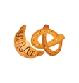 Pastry Breakfast Food Element Isolated Icon vector image