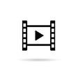 play icon black vector image vector image