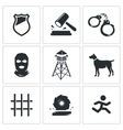 Prison Icons Set vector image vector image