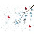 red birds vector image vector image