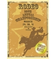 Rodeo Poster with sample text vector image vector image