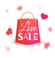 Sale banner with red hearts vector image vector image