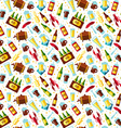 Seamless pattern with beer symbols on white vector image vector image