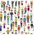 Seamless people pattern vector image vector image