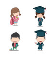 set graduated pupils drawing by hand vector image vector image
