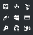 set of poland icons vector image vector image