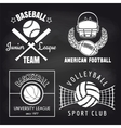 Set of sport banners on chalkbpard vector image vector image