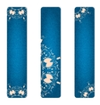 Set of three vertical banner blue jeans with pink vector image vector image