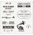 Set of wedding invitation vintage design elements vector image vector image