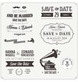 set wedding invitation vintage design elements vector image