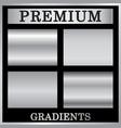silver gradient backgrounds set design vector image