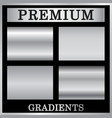 Silver gradient backgrounds set silver design