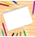 Spiral bound notepads and pen template or vector image vector image