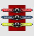 sport scoreboard template vector image vector image