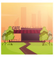 street cafe coffeeshop city cafe flat design vector image