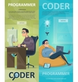 Technology Programming Vertical Banners vector image