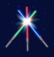 three light swords shiny fight vector image