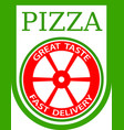 traditional italian pizza emblem vector image vector image