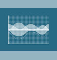 transparent graph isolated on blue background vector image