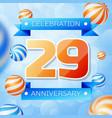 twenty nine years anniversary celebration design vector image vector image