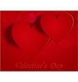 Two enamored hearts on a celebratory background vector image