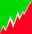 Up Arrow stylized Italian flag vector image