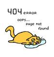 upset orange cat tik lies in tears vector image vector image