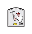 Window Washer Cleaner Cartoon vector image vector image
