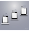 modern computer tablet infographic vector image
