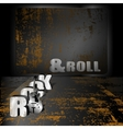 Rock music background with rust vector image
