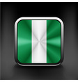 flag of Nigeria national travel icon country vector image