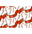 hand drawn christmas seamless pattern with vector image