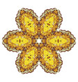 yellow and green round lace pattern vector image