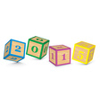 2015 made from toy blocks vector image vector image