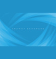 abstract white curve overlap on blue vector image vector image