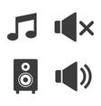audio and sound icons on white background vector image vector image